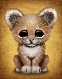 «Cute Baby Lion Cub » de Jeff Bartels