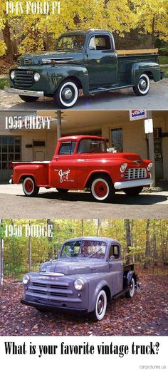 What is your favorite Vintage Pickup Truck? - Car Pictures