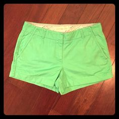 "J.Crew. Style: Chino. Broken-in shorts. Size: 8. J.Crew. Style: Chino. Broken-in shorts. Size: 8. City Fit. Inseam: 3"". J. Crew Shorts"