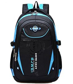 MAYZERO Kids Outdoor Backpack School Bags Waterproof Travel Camping Bags  Blue -- Visit the image link more details. 0969e4038bc14