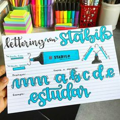 Tag a Stabilo fan😆 These awesome tutorials are created by ⠀ You can get great deals on stationery such as brush pens,… Essay Planner, Study Planner, Study Methods, Study Tips, Studyblr, Simple Borders, Study Board, Stabilo Boss, Bullet Journal School