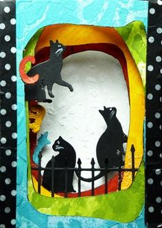 Cat Tunnel Book by mzjohansen- Cloth Paper Scissors #CraftMonth