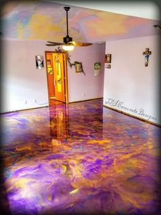 Epoxy floor installed by JLS Concrete Designs