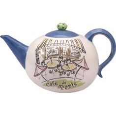 The theme for my kitchen is a French Cafe, this decorative (although fully-functional) tea-pot will do the trick! $20.99 (although I'm stil searching for a better deal on the price).