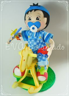 EVA Encantado Foam Crafts, Diy Crafts, Baby Shower, Lalaloopsy, Wood Carving, Smurfs, Projects To Try, Birthdays, Make It Yourself