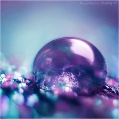 Turquoise And Purple, Purple Haze, Shades Of Purple, Green And Purple, Pink Blue, Water Droplets, All Things Purple, Purple Aesthetic, Macro Photography