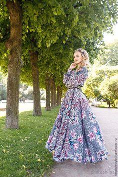 A la Russe Dress / Платье в Русском стиле , А-ля Русс , платье из платков. - платье в русском стиле