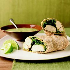 Our Chicken Chimichurri Wraps are full of heart-healthy #fats (avocados, olive oil) and 30 grams of muscle-building protein! This #dinner takes less than 20 minutes of prep time. #myplate http://www.parents.com/recipes/cooking/kid-friendly-food/10-things-to-do-with-a-boneless-chicken-breast/?socsrc=pmmpin130325qemChimichurriWrap