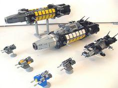 I love LEGO microscale spaceships!