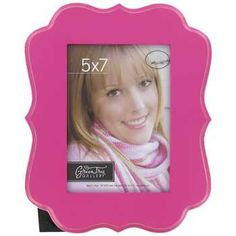 "Hot Pink 5"" x 7"" Bright Ornate Shaped MDF Frame"