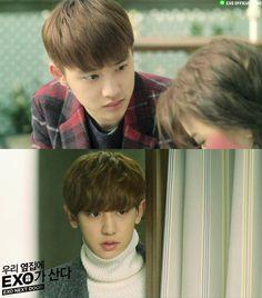 150416 EXO LINE update: EXO Next Door - D.O. & CHANYEOL
