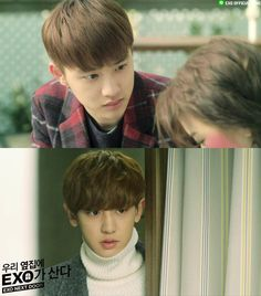 150416 EXO LINE update: EXO Next Door - D.O. & CHANYEOL