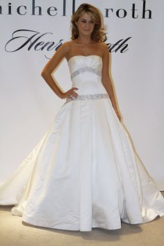 Bridal Gowns: Henry Roth Princess/Ball Gown Wedding Dress with Strapless Neckline and Dropped Waist Waistline