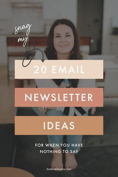 20 email newsletter ideas for female entrepreneurs. E-mail Marketing, Email Marketing Design, Marketing Budget, Email Marketing Strategy, Small Business Marketing, Email Design, Content Marketing, Business Tips, Online Marketing