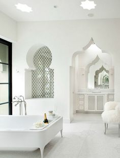 Find a selection of unique lighting ideas to create a luxurious bathroom decor.