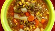 Here's an old-timey hamburger and mixed vegetable soup, made the way Grandma made it (if Grandma had a slow cooker).