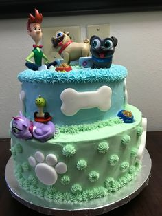 Discover recipes, home ideas, style inspiration and other ideas to try. Puppy Birthday Cakes, Birthday Cake Girls, 3rd Birthday Parties, Baby Birthday, Dog Cakes, Girl Cakes, Second Birthday Ideas, Cakes For Boys, Party Cakes