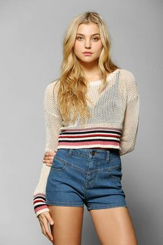 BDG Tennis Pro Cropped Sweater #urbanoutfitters