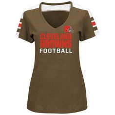 00af4767ae5 ... Cleveland Browns Majestic Womens Pride Playing V-Neck T-Shirt - Brown  ...