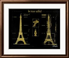 Eiffel Tower (Gold) - Artcom  ;-)