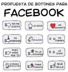 Excelente! Por fin, nuevos botones en #Facebook