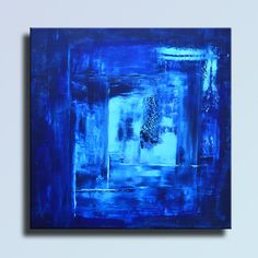 ABSTRACT PAINTING Blue Painting Original Painting Canvas by itarts
