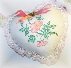 Wild Rose Heart Pillow | Flickr - Photo Sharing!