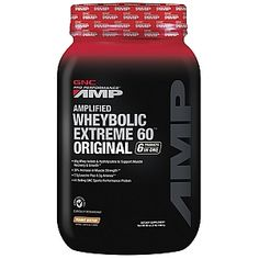 Your daily protein shake never tasted better. Try the new AMP Wheybolic Extreme 60™ Original - Peanut Butter flavor.  Chocolate/Peanut Butter, Strawberry/Peanut Butter, etc. The possibilities will leave your mouth watering!