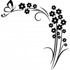 Sticker Marguerite et papillon