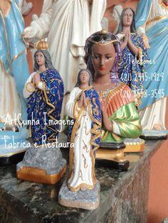 Santa Sara Kali (Diversas). ArtCunha Artesanatos. Pecas, artefatos, estatuas e imagens sacras. Com ou sem pintura. Est. Bandeirantes, 829, Rio de Janeiro, RJ. Tel:(21)2445-1929 / 8558-3595. #Cigano #Ciganos #Cigana #Ciganas #Roma #Romani #Sara #Kali #Padroeira