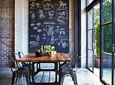 Go Ahead & Introduce Yourself To The Chalkboards That Will Soon Be Decorating Your House ➤ http://CARLAASTON.com/designed/chalkboard-desig...