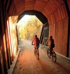 14 Great Midwest Bike Trails - You'll love biking on South Dakota's George S. Mickelson Trail, which snakes through tunnels and across 100 trestles. Places To Travel, Places To See, Travel Destinations, Bike Trails, Hiking Trails, Bike Path, Covered Bridges, Vacation Trips, Vacation Spots