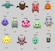 Holo-Pets converted to Sims 2 from Sims 3: Into the Future.  These are cloned from a lamp.