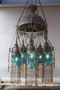 1 Of 2 Moorish Chandelier, Antique Chandeliers, Antique And Spanish Revival  Lighting