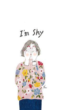 #shy #girl #illustration