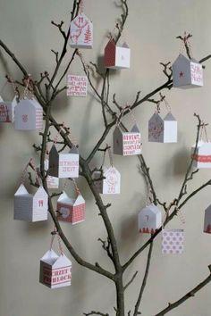 Advent boom of een leuke wens boom voor een verjaardag, jubileum, enz