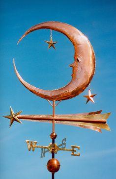 Moon Weathervane - with Stars - West Coast Weathervanes