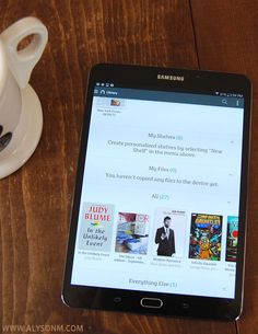 Samsung Galaxy Tab S2 Nook review and $20 Nook GC Giveaway.  Get organized and then relax with a good book or show.