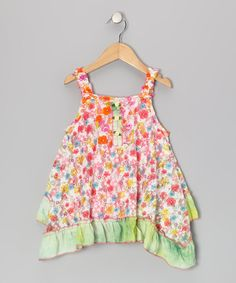<p+style='margin-bottom:0px;'>With+its+bright+floral+print+and+fluttery+handkerchief+silhouette,+this+darling+dress+is+a+breath+of+fresh+air+that+a+little+girl+can+wear!<p+style='margin-bottom:0px;'><li+style='margin-bottom:0px;'>92%+polyester+/+8%+cotton<li+style='margin-bottom:0px;'>Machine+wash;+tumble+dry<li+style='margin-bottom:0px;'>Imported<br+/>