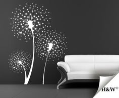 Dandelions Wall Decals  Vinyl Stickers  Home Decor by HomeWall, $55.00