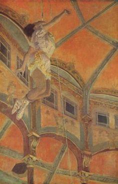 Miss La La au Cirque Fernando, par Édgar Degas