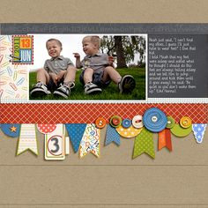 Banner-Putting Embossed Stitching on Your Scrapbook Page