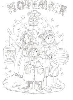 Sint Maarten kids n fun.nl Coloring Page Crafts To Do, Fall Crafts, Christmas Crafts, Crafts For Kids, Diy Crafts, Cool Coloring Pages, Fall Decor, Mandala, November