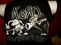 Upcycled Korn 90s Music  TBack TShirt Tank Top by KillWalmart, $15.00