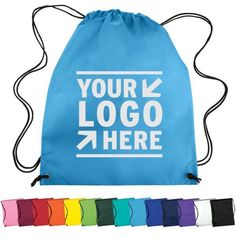150 Personalized Nonwoven Drawstring Backpack Printed with your Logo or Message Promote Your Business, Drawstring Backpack, Backpacks, Messages, Printed, Logos, Ebay, Drawstring Backpack Tutorial, Women's Backpack