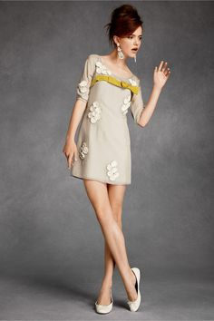 Gin Fizz Shift longer length.  love the appliques and the fine silk wonderful color combination