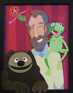 Henson by WonderDookie on deviantart. One of my all time heroes, Jim Henson (along with a couple of his more well known puppets.) Sorry for the terrible picture quality. For the life of me I can't get the colors to turn out right. Fraggle Rock, The Muppet Show, Muppet Babies, Rainbow Connection, The Dark Crystal, Jim Henson, Michael J, Kermit, Caricature