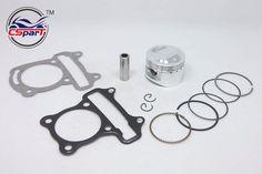 [Visit to Buy] Performance 52mm Piston Rings Gasket Kit GY6 50CC to 120CC  Jonway  Sunny Keeway Taotao Roketa JCL 139qmb Scooter Parts #Advertisement