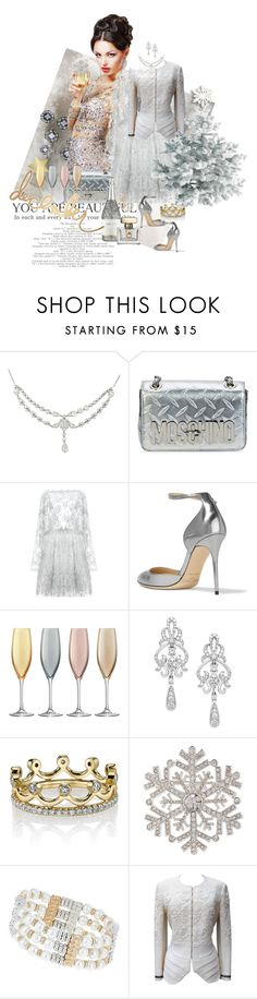 """3642"" by mljilina ❤ liked on Polyvore featuring Moschino, Zuhair Murad, Jimmy Choo, LSA International, Wrapped In Love, Erica Courtney, Anne Klein, Dorothy Perkins and John Galliano"