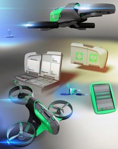 Smart Aid - Delivery Drone by Stefan Riegebauer - The Smart Aid doesn't focus on shopping deliveries (yet), rather, it aims to provide preliminary medical aid to those in need before paramedics arrive. Read more at http://www.yankodesign.com/2013/12/19/delivery-drones-are-the-future/#0jILqsD4SZjJJ71h.99